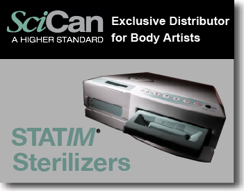 SciCan Exclusive Distributor for Body Artists: Statim Sterilizers by Brian Skellie