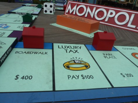 walkable monopoly board, atlantic city nj, bally's atlantic city, giant-sized monopoly
