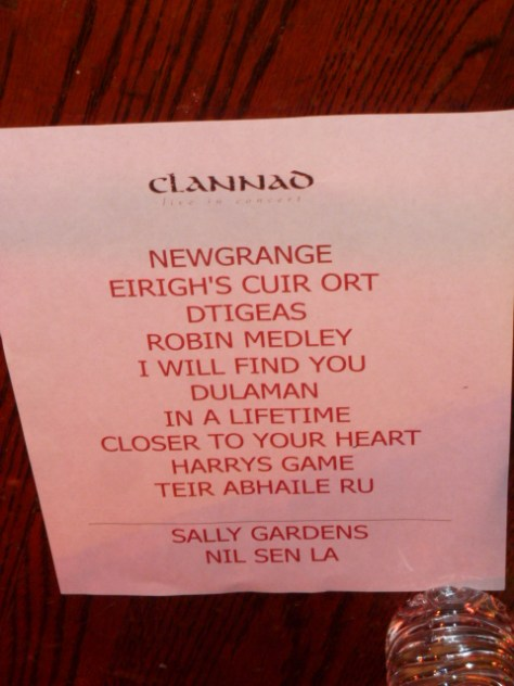 clannad, clannad concert photos