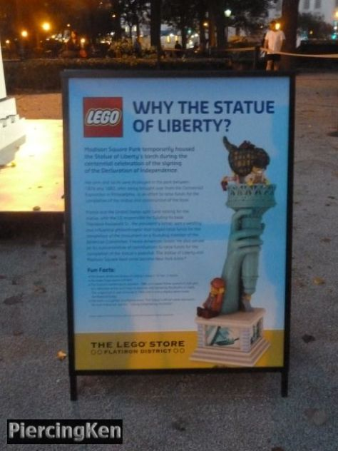 lego, madison square park, statue of liberty
