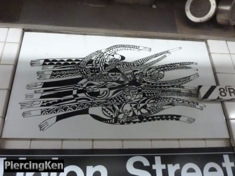 union street, subway station art