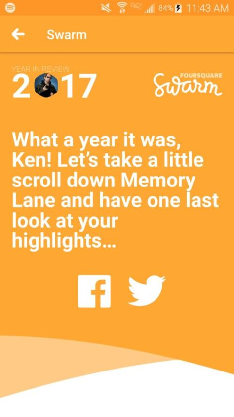 swarm, year in review, foursquare