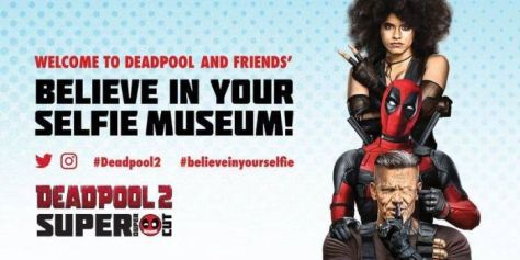 deadpool 2: believe in your selfie museum