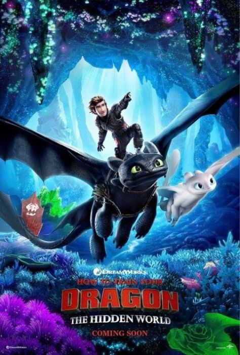 movie posters, promotional posters, how to train your dragon the hidden world, dreamworks
