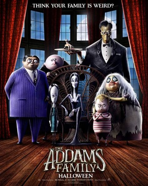 movie posters, promotional posters, the addams family
