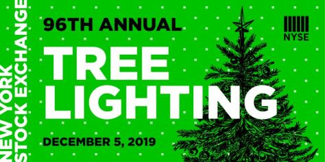 nyse holiday tree lighting