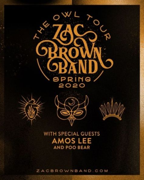 tour posters, zac brown band, zac brown band tour posters