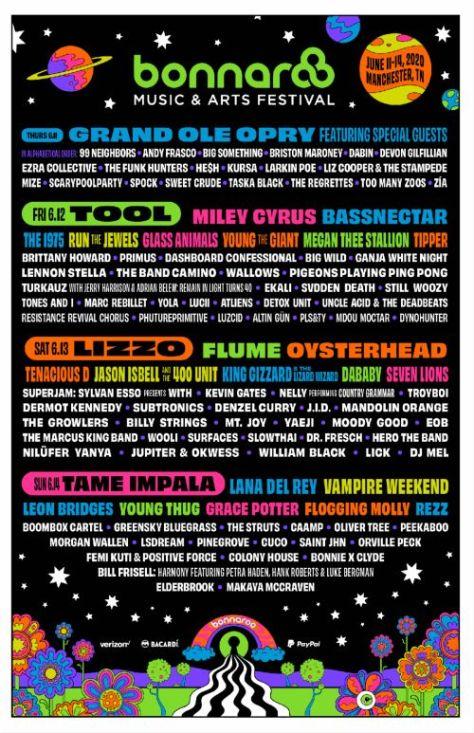 bonnaroo festival 2020