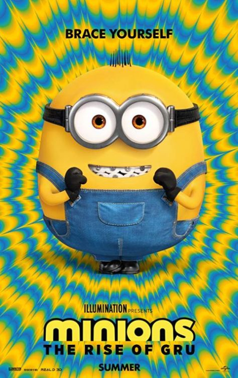 movie posters, promotional posters, minions the rise of gru, illumination