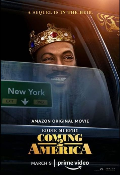 movie posters, promotional posters, amazon prime video, paramount pictures, coming 2 america