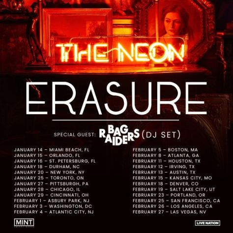 tour posters, promotional posters, erasure, erasure tour posters