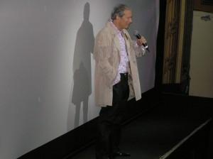 Jeffrey Baker addresses the Hard Rock Cafe Times Square