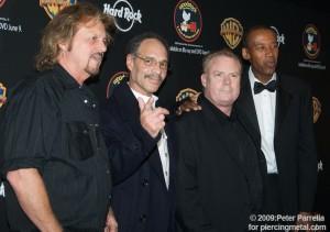 L to R (Gregg Rolie, Michael Carabello, Michael Shrieve & Alphonso Johnson - Santana/Gregg Rolie Band members)