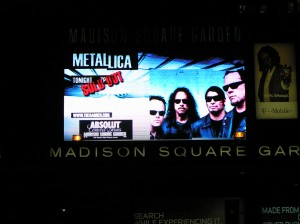 Metallica's MSG Marquee