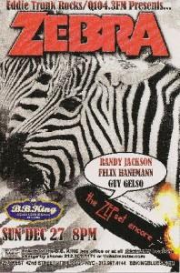 B.B. King's Zebra Show Card