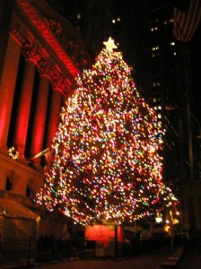 The NYSE Tree In All It's Holiday Glory