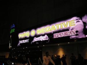 Nokia Theatre Marquee: Type-O-Negative & Company