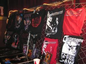 Genitorturers Merchandise Stand