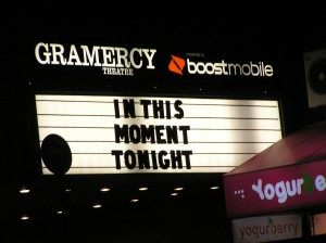The Marquee for In This Moment's NYC Headlining Show