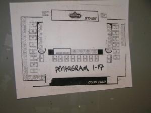 Pentagram Show Floor Plan for the Venue