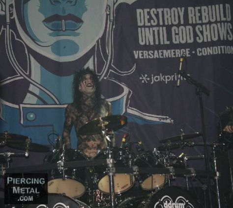 black veil brides, black veil brides concert photos