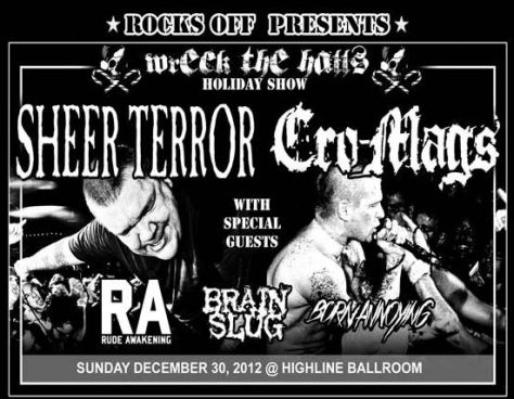 cro-mags concert poster,