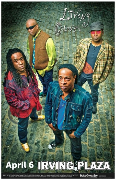 Poster - Living Colour at Irving Plaza - 2013