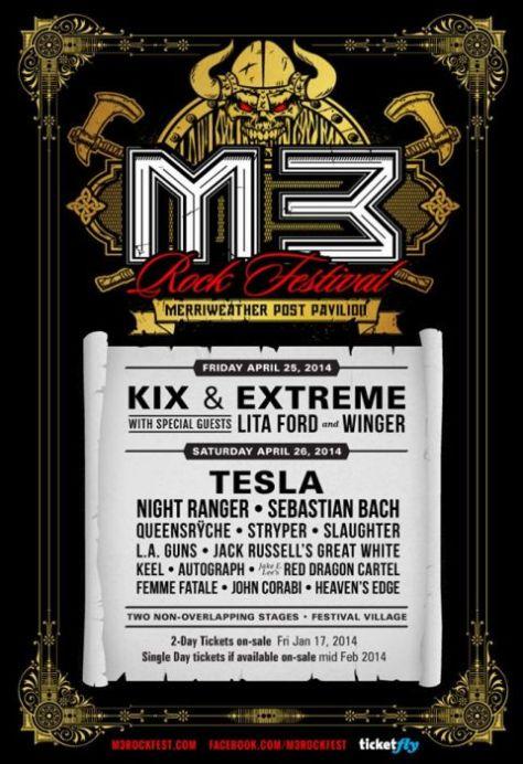Poster - M3 Rock Festival - 2014