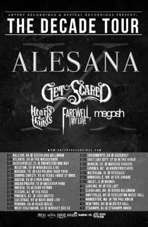 Tour - Alesana - 2014