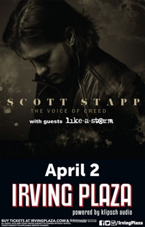 Poster - Scott Stapp at Irving Plaza - 2014