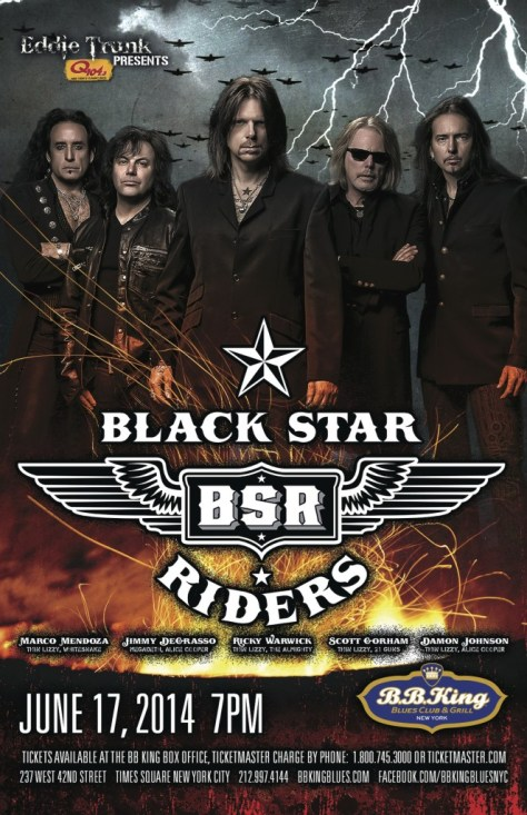 Poster - Black Star Riders at BB Kings - 2014