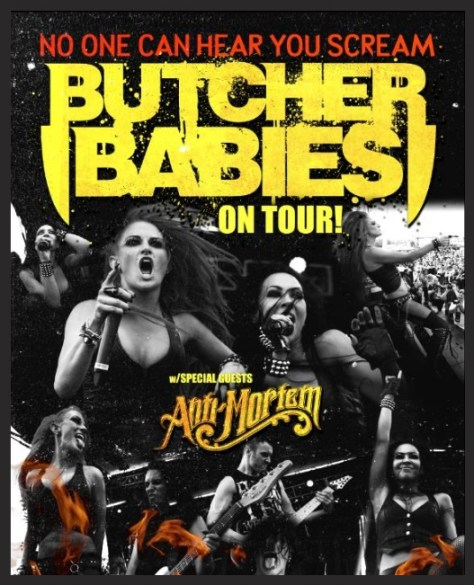 Tour - Butcher Babies - 2014