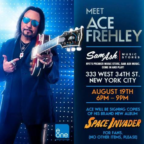 Poster - Ace Frehley at Sam Ash - 2014