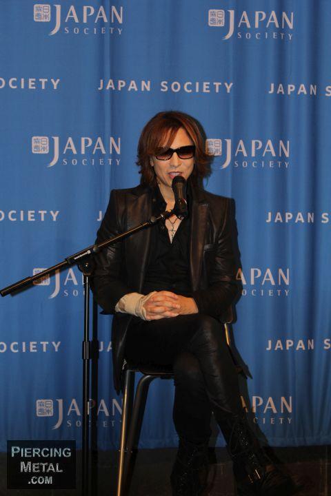 yoshiki, yoshiki press conference, japan society, x japan,