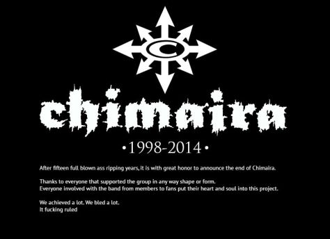 RIP - Chimaira - 2014