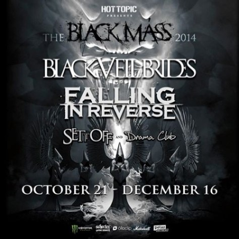 Tour - Black Veil Brides - 2014