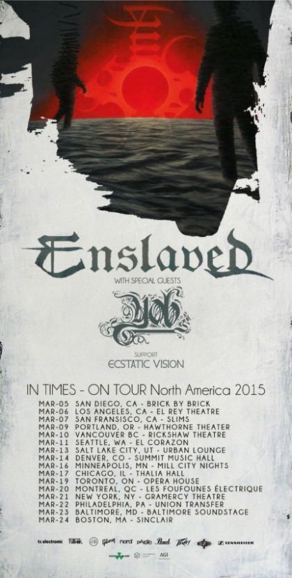 Tour - Enslaved - 2015