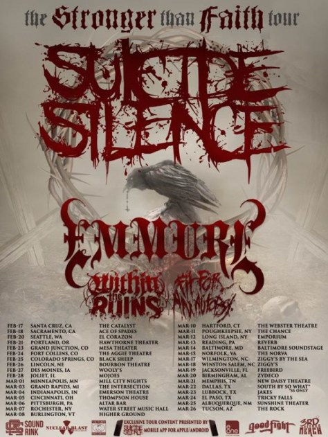 Tour - Suicide Silence - Stronger Than Faith 2015