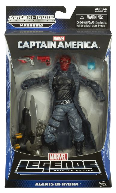 CAPTAIN AMERICA 6In INFINITE LEGENDS RED SKULL In Pack A6223 SWAP