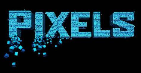 pixels movie logo, sony pictures