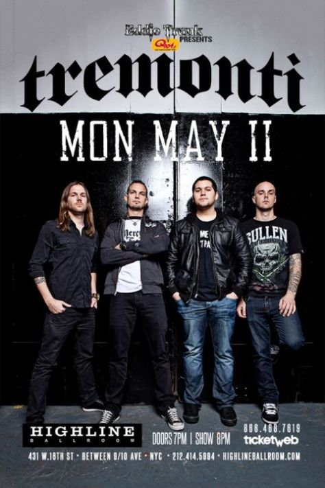 Poster - Tremonti at Highline Ballroom - 2015