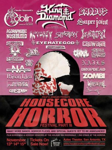 Poster - Anselmos Housecore Horror Festival - B - 2015