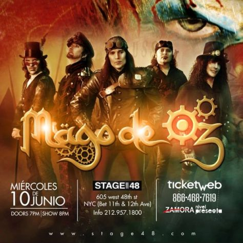 Poster - Mago De Oz at Stage 48 - 2015