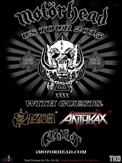 Tour - Motorhead - 2015