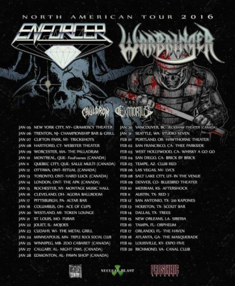 Tour - Warbringer and Enforcer - 2016