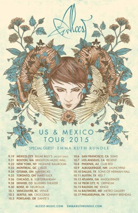 Tour - Alcest - US Mexico 2015