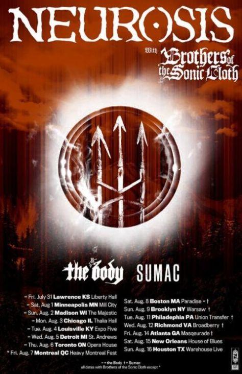 Tour - Neurosis - Summer 2015