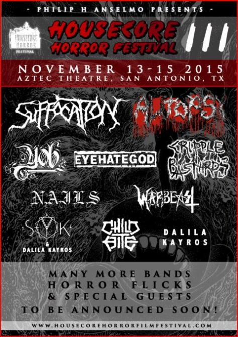 Poster - Anselmos Housecore Horror Festival - A - 2015