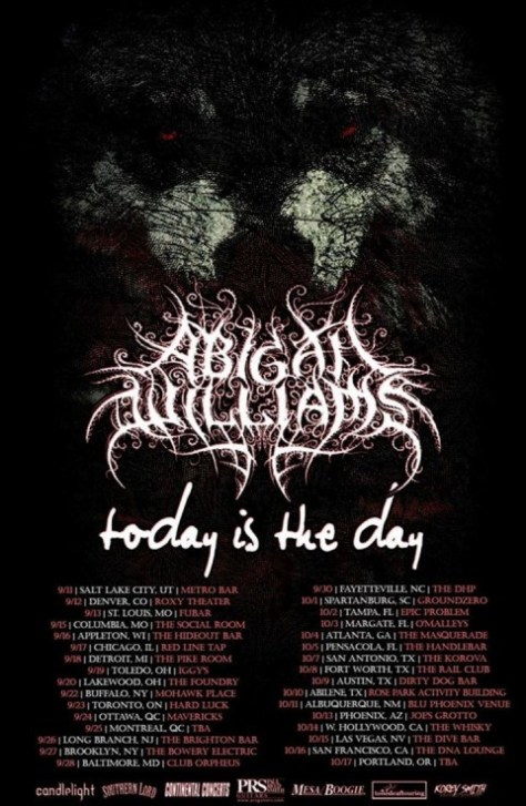 Tour - Abigail Williams - Summer 2015