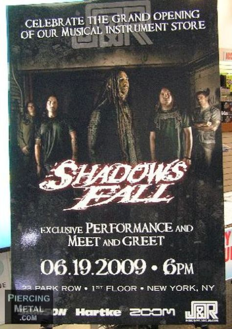 shadows fall, shadows fall concert photos